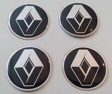 4 Renault Aufkleber 54mm Schwarz Embleme Logo  Nabendeckel 106-R