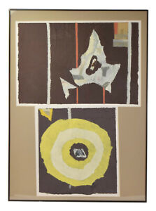 1970's Vintage Modernist Abstract Shape Paper Collage #2 Ki Davis Chicago Artist