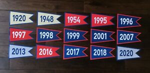 CLEVELAND INDIANS PROGRESSIVE JACOBS FIELD CHAMPION PENNANT FLAG BANNERS PHOTO
