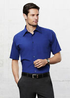 Biz Collection Men's Metro Short Sleeve Shirt Curved Hem Tailored Fit W/ Pocket