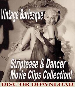 101 MOVIES ☆ VINTAGE BURLESQUE RISQUE STRIPTEASE / STRIPPER FILMS Disc/Download