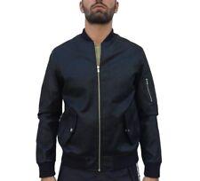 Jacket Jack & Jones Premium 12142641 Eco Leather Bomber Black Zip Regular Fit Sm