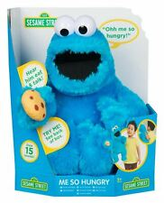 Sesame Street Talking ME SO HUNGRY Cookie Monster Soft Plush Puppet Toy