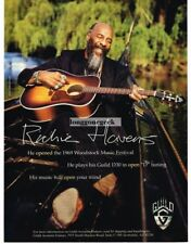 1998 GUILD D30 Acoustic Guitar RICHIE HAVENS Vtg Print Ad