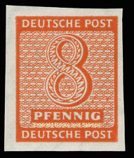 EBS Germany 1945 Soviet Zone - West Saxony - Numerals set 8 Pf imperf 118Y MNH**