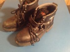 Harley-Davidson Motorcycle Women's Boots Faded Glory 6-inch Black sz 7.5