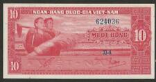 1962 South Vietnam 10 Dong Note