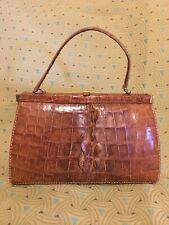 Excellent Condition Vintage Mid Century Genuine Alligator Handbag Purse