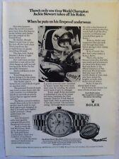 1972 ROLEX OYSTER DAYDATE JACKIE STEWART FORMULA ONE RACING AD CLASSIC WATCH AD