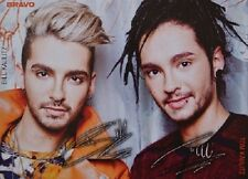 Bill & Tom Kaulitz-AUTOGRAFO carta-signed autograph Tokio Hotel skinning
