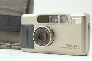 [Exc+5 Case] Contax T2 D T2D Data Back Titan Silver 35mm Film Camera from JAPAN
