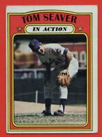1972 Topps #446 Tom Seaver In Action VG-VGEX WRINKLE New York Mets FREE SHIPPING