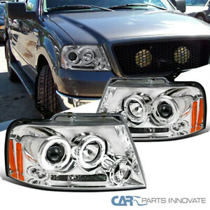 For Ford 04-08 F150 Lincoln 06-08 Mark LT LED Halo Projector Headlights Pair L+R