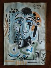 PABLO PICASSO      DRAWING SIGNED ON VINTAGE PAPER OF THE 900s