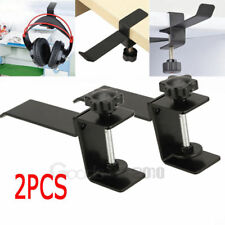 2Pcs Headset Earphone Headphone Holder Hanger Stand Table Clamp Clip with Screw