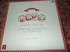 4 Pottery Barn Kids SANTA PLATES SET, Dining, Sleigh ,Merry Christmas , SET, NEW