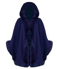 R29 mujer de piel sintética con capucha mujer capa Poncho en TALLA GRANDE 08-26