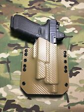 Tan Carbon Fiber Kydex Holster for Glock 17 22 Threaded Barrel Surefire XC1