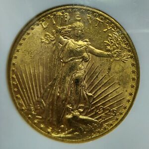 1925 $20 Saint Gaudens Gold Double Eagle MS-62 NGC Old Holder