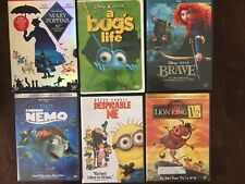 Lot of 6 Kids DVDs!! Finding Nemo, Lion King, Marry Poppins & More!