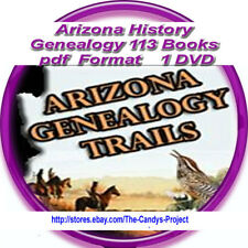 Arizona History Genealogy Counties Vintage Rare pdf Books DVD