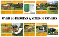 HEAVY DUTY WATERPROOF GARDEN FURNITURE COVER PATIO RATTAN TABLE HAMMOCK OUTDOOR