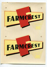 Farmcrest Model M Agriculture Farming Decal NOS