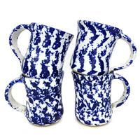 Vintage PNW Pacific Northwest Pottery Pysht Pot 4 Signed Mugs 1985 Blue Rare Cup
