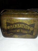 RARE VINTAGE SENSATION SMOKING TOBACCO LUNCH BOX TIN Lorillard Tobacco Co