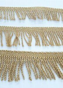 Frangia Passamaneria Intrecciata Oro Dorata Lurex lamé Borsa Coffa 2,5 4 6 cm 1m