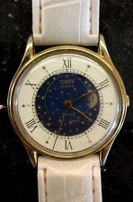 Very Rare Vintage TIMEX M CELL T 55/33 Moonphase / Moon Face Working