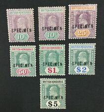 MOMEN: HONDURAS SG #87s-93s 1904-07 SPECIMEN MINT OG H LOT #191590-299