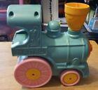 Mattel+Train+Crib+Rail+Runner+Musical+Infant+Toy+1979+Blue+%26+Pink