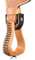 """Western Saddle Stirrups Turner - 2.5"""" or 3"""" - Black or Brown"""