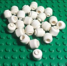 Lego X25 New Bulk Plain White Head Monochrome Mini Figures,Winter Snow Ball Lot