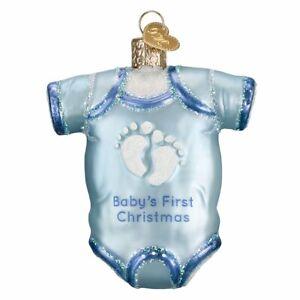 Old World Christmas BABY ONSIE (Blue) (32339)X Glass Ornament w/ OWC Box