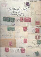 CANADA 1900 1950's COLLECTION OF 21 COMMERCIAL COVERs FRANKED KING EDWARD TO