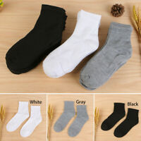 1pair Men Solid Breathable Gym Sports Socks Low Cut Cotton Short Ankle Socks