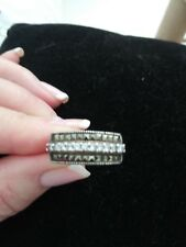 🌵Vintage Sterling Silver 925 Marcasite And  CZ Ring size 7