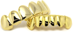 Gold Grillz For Kid 14K Boy Girl Top Bottom Grill Teeth Mouth Tooth Golden New