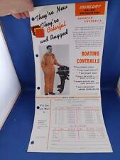 MERCURY SALES PROMOTION BROCHURE BOATING COVERALLS FABRIC SAMPLES ORDER FORM