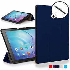 Navy Blue Smart Case Cover Shell for Huawei MediaPad T2 10.0 Pro & Free Stylus
