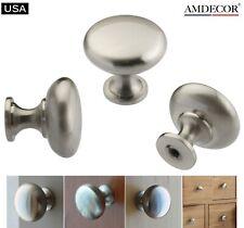 Amdecor Satin Nickel Modern Cabinet Pull Handle Cup knob Hardware N48304.30Sn