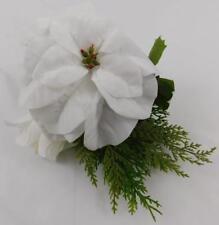Ashland Christmas Holiday Stem Bundle White Flowers Pine Cones New  A
