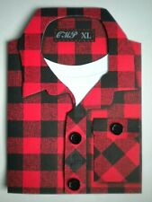PAPER MAGIC ~ RED & BLACK PLAID SHIRT BIRTHDAY GREETING CARD + ENVELOPE
