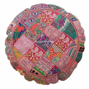 Cotton Mandala Floor Pillow Cover Vintage Patchwork Large Floor Cushion Cover