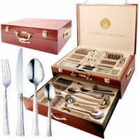 PRIMA 95 PIECE CANTEEN OF CUTTLERY IN WOODEN CASE NEW DESIGN FOR 2019