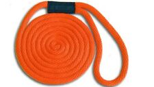 "USA Made ORANGE Floats Fade Proof Solid Braid Nylon Dock Line  5//8/"" x 25/'"