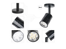 5W LED Surface Mount Wall Spotlight Ceiling Lamp Black Fixture Pure White