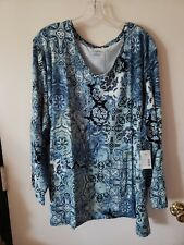 WOMENS PLUS SIZE 4X 30/32 TOP   NWT CATHERINES TUNIC